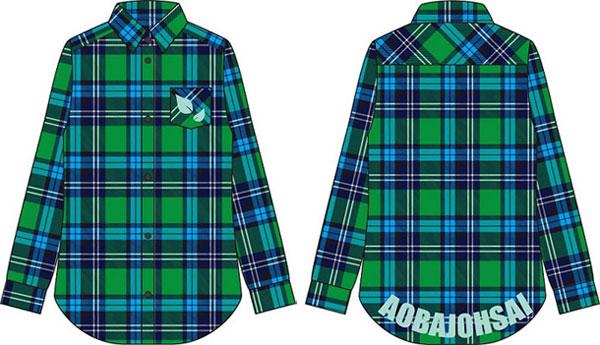 Haikyuu!! - Image Checkered Shirt Aoba Johsai High School / L(Back-order)(ハイキュー!! イメージチェックシャツ 青葉城西高校 L)