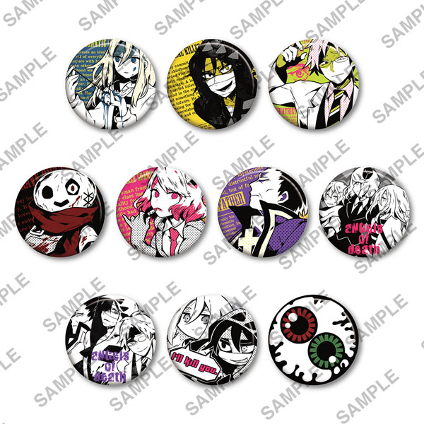 Satsuriku no Tenshi - Can Badge + PUNKISH 10Pack BOX(Released)(殺戮の天使 缶バッジ+(プラス) PUNKISH 10個入りBOX)