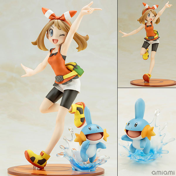 "ARTFX J - ""Pokemon"" Series: May with Mudkip 1/8 Complete Figure(Released)(ARTFX J 『ポケットモンスター』シリーズ ハルカ with ミズゴロウ 1/8 完成品フィギュア)"