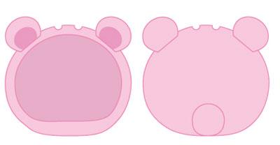 Omanjuu Niginigi Mascot Kigurumi Case - Bear Pink(Released)(おまんじゅうにぎにぎマスコット きぐるみケース くま ピンク)