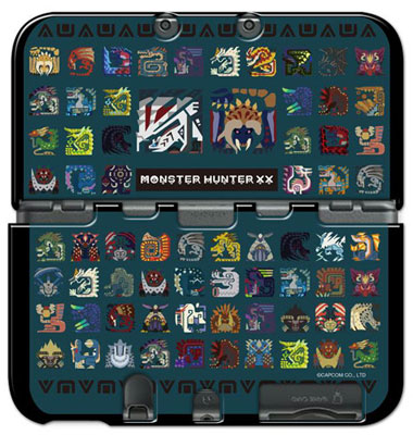 Monster Hunter XX - Cover for New Nintendo 3DS LL: Monster Icon(Released)(モンスターハンターダブルクロス カバー for Newニンテンドー3DS LL モンスターアイコン)