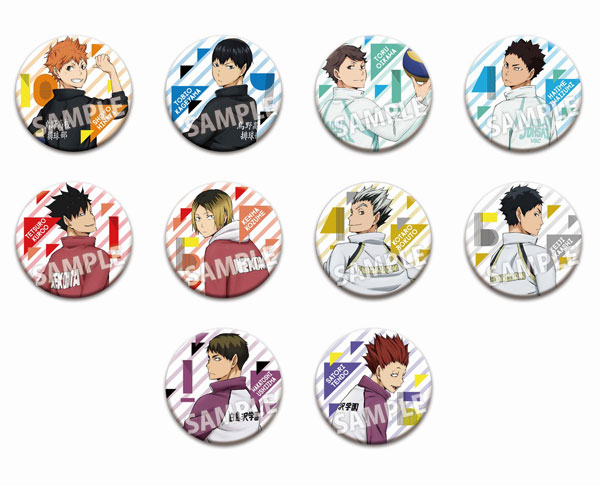 Haikyuu!! - Trading Can Badge (Furimuki) 10Pack BOX(Released)(ハイキュー!! トレーディング缶バッジ(振り向き) 10個入りBOX)
