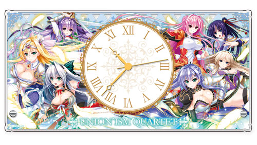 Unionism Quartet A-3DAYS - Acrylic Tabletop Clock(Released)(ユニオリズムカルテットA-3DAYS アクリル置き時計)