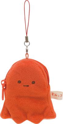 CU21601 Sumikko Gurashi - Plush Mini Pouch: Tako Wiener(Released)(CU21601 すみっコぐらし ぬいぐるみミニポーチ たこウインナー)