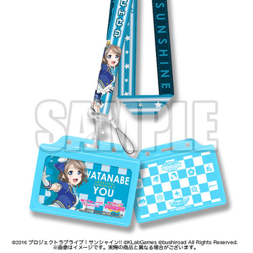 Love Live! Sunshine!! - Member Neck Strap (w/Card Case): You(Released)(ラブライブ!サンシャイン!! メンバーネックストラップ(カードケース付) 曜)