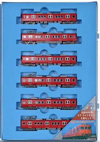 A8351 名鉄6000系・ドア・ライトグレー 6両セット[マイクロエース]《取り寄せ※暫定》