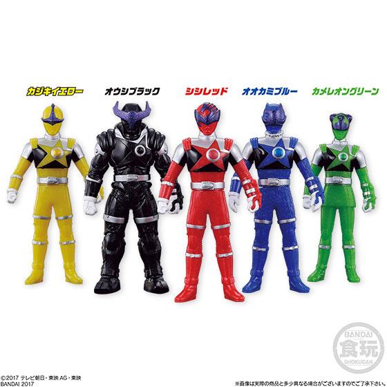 Sofubi Hero - Uchu Sentai Kyuranger 10Pack BOX (CANDY TOY)(Released)(ソフビヒーロー 宇宙戦隊キュウレンジャー 10個入りBOX(食玩))
