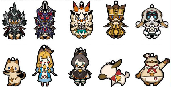 Monster Hunter XX - Both-sides 3D Solid Rubber Mascot Collection 10Pack BOX(Released)(モンスターハンターダブルクロス 両面立体ラバーマスコットコレクション 10個入りBOX)