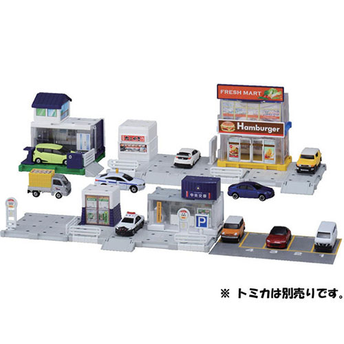 Tomica World - Tomica Town Build City: Machi wo Tsukurou! Basic Road Set(Released)(トミカワールド トミカタウンビルドシティ 街をつくろう! ベーシックどうろセット)
