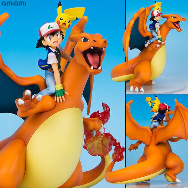 G.E.M. Series - Pokemon: Ash Ketchum & Pikachu & Charizard Complete Figure(Released)(G.E.M.シリーズ ポケットモンスター サトシ&ピカチュウ&リザードン 完成品フィギュア)