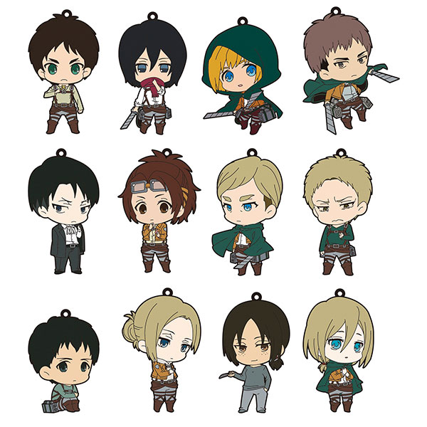 Attack on Titan - Rubber Strap Collection 12Pack BOX(Released)(進撃の巨人 ラバーストラップコレクション 12個入りBOX)