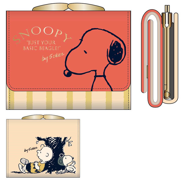 PEANUTS - Snoopy SN Trifold Wallet / STRIPE(Released)(PEANUTS スヌーピー SN 3つ折り財布/STRIPE)