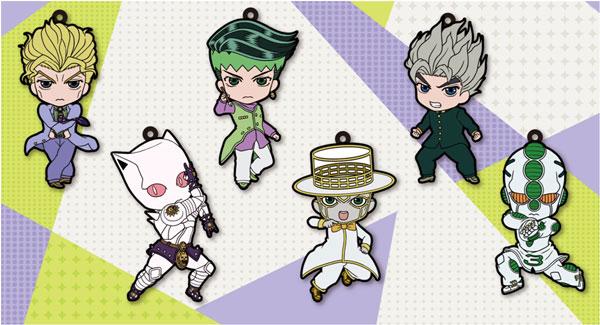 """TV Anime """"JoJo's Bizarre Adventure Diamond Is Unbreakable"""" - Rubber Strap Collection Vol.2 6Pack BOX(Back-order)(TVアニメ「ジョジョの奇妙な冒険 ダイヤモンドは砕けない」 ラバーストラップコレクション Vol.2 6個入りBOX)"""