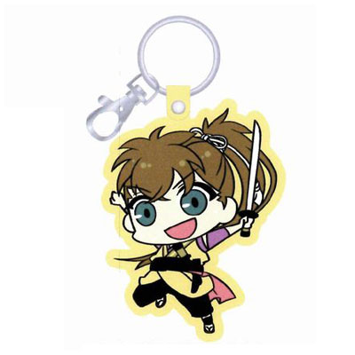 Hakuouki Otogi Soushi - PU Leather Keychain: Toudou(Released)(薄桜鬼~御伽草子~PUレザーキーホルダー 藤堂)