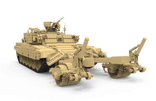 1/35 ロシア 地雷除去車 BMR-3M プラモデル(1/35 Russian Mine Clearing Vehicle BMR-3M Plastic Model(Released))