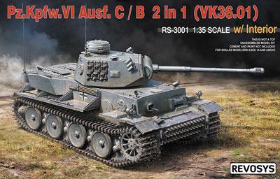 1/35 VI Tank Ausf. C/B (VK36.01) w/Interior 2in1 Kit Plastic Model(Released)(1/35 VI号戦車C型/B型 (VK36.01)w/インテリア 2in1キット プラモデル)
