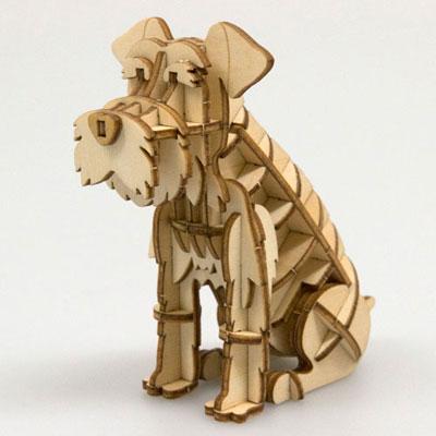 Wooden Art ki-gu-mi - Miniature Schnauzer(Back-order)(Wooden Art ki-gu-mi ミニチュアシュナウザー)