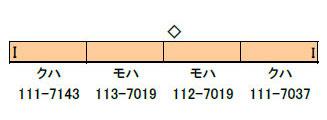 30646 完成品モデル JR113系7000番台(40N体質改善車・阪和線)増結4両編成セット(動力無し)[グリーンマックス]【送料無料】《取り寄せ※暫定》