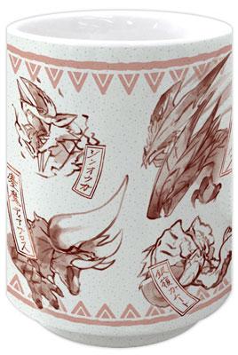 Monster Hunter XX - Japanese-design Japanese Teacup: Red(Back-order)(モンスターハンターダブルクロス 和柄湯呑み 赤)