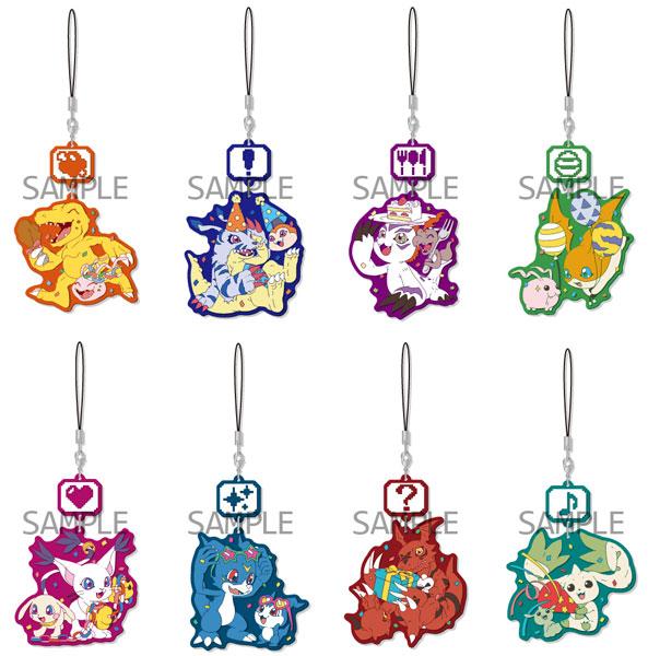 Digimon Series - Chara Yura Rubber Strap 8Pack BOX(Released)(デジモンシリーズ キャラゆらラバーストラップ 8個入りBOX)