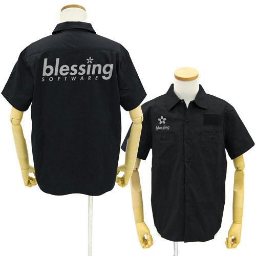 冴えない彼女の育てかた♭ blessing softwareワークシャツ/BLACK-M(再販)[コスパ]《02月予約》