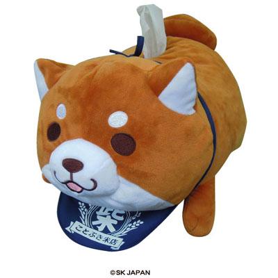 Chuuken Mochishiba - Plush Tissue Case (Okaka)(Released)(忠犬もちしば ぬいぐるみティッシュケース(おかか))