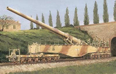 """1/35 WW.II ドイツ軍 28cm 列車砲K5(E)""""レオポルド""""プラモデル(再販)[ドラゴンモデル]《取り寄せ※暫定》"""
