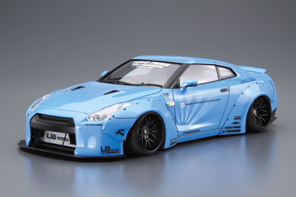 1/24 Liberty Walk No.9 LB.WORKS R35 GT-R Ver.1 Plastic Model(Released)(1/24 リバティーウォーク No.9 LB・WORKS R35 GT-R Ver.1 プラモデル)