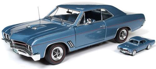 【在庫処分】 1/18 1967 ハードトップ Buick GT ハードトップ GT 1/64スケールモデル付(サファイヤブルー)[アメリカンマッスル]《発売済 1967・在庫品》, 有珠郡:1b961d22 --- blablagames.net