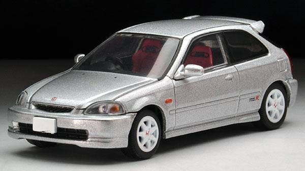 トミカリミテッドヴィンテージ ネオ LV-N158b シビックタイプR 97年 (銀)(Tomica Limited Vintage NEO - LV-N158b Civic Type-R '97 (Silver)(Pre-order))