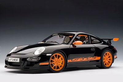 1/12 ダイキャスト・モデルカー シグネチャーシリーズ ポルシェ 911(997) GT3 RS(ブラック/オレンジストライプ)[オートアート]《取り寄せ※暫定》