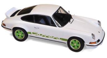 1/18 ポルシェ 911 RS 1973 ホワイト & グリーン[ノレブ]《08月仮予約》