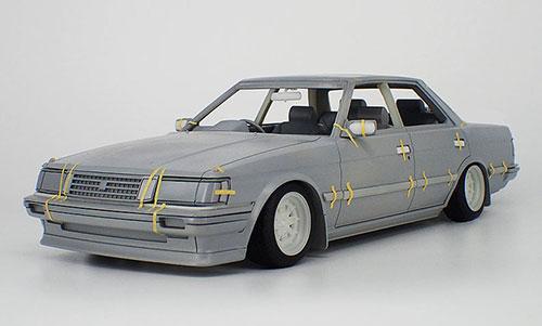 1/18 トヨタ マークII グランデ (GX71) White SS-Wheel[イグニッションモデル]【送料無料】《発売済・在庫品》