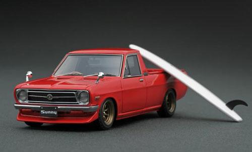 1/43 Nissan Sunny Truck Long (B121) Red[イグニッションモデル]【送料無料】《発売済・在庫品》