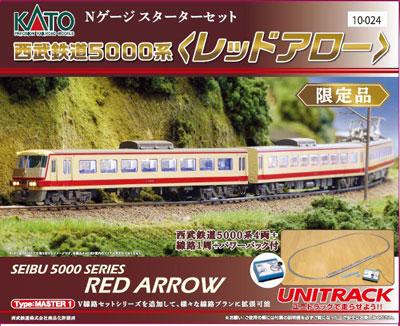 10-024 スターターセットスペシャル 西武鉄道5000系〈レッドアロー〉[KATO]【送料無料】《取り寄せ※暫定》