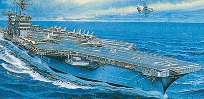 戦艦・空母 No.9 1/800 空母 カールビンソン プラモデル[マイクロエース]《取り寄せ※暫定》