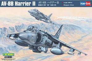 1/18 エアクラフト AV-8B ハリアーII プラモデル(再販)[ホビーボス]《取り寄せ※暫定》