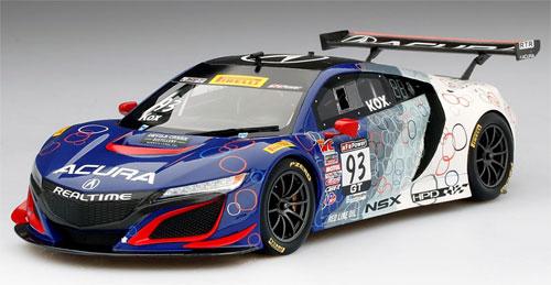 1/18 Acura NSX GT3 #93 ピレリ ワールドチャレンジ リアルタイム レーシング[TOP SPEED]《08月予約》