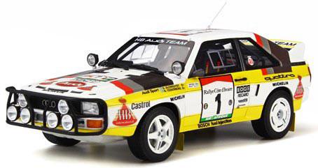 1/18 アウディ クアトロ スポーツ Gr.B (ホワイト/イエロー)[OttO mobile]《発売済・在庫品》