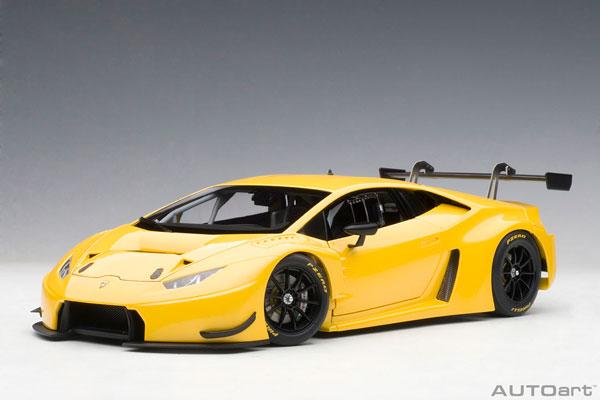 1/18 オートアート・コンポジットモデル ランボルギーニ ウラカン GT3 (パール・イエロー)[オートアート]【送料無料】《取り寄せ※暫定》