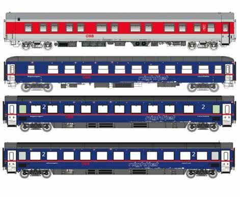LS79035 Nゲージ OBB nightjet 4両セット[L.S.Models]【送料無料】《在庫切れ》