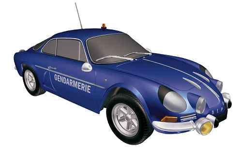 1/18 アルピーヌ ルノー A110 1600S 1971 Gendarmerie[ノレブ]《09月仮予約》