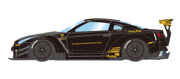 1/43 LB★WORKS GT-R Type 2 2017 ブラック[メイクアップ]《08月予約》