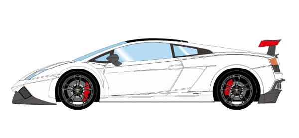 1/43 ランボルギーニ ガヤルド LP570-4 スーパートロフェオストラダーレ 2011 ホワイト[メイクアップ]【送料無料】《08月予約※暫定》