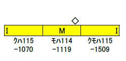 30770 JR115系1000番台(30N体質改善車・岡山D編成・中国地域色) 3両編成セット(動力付き) 完成品[グリーンマックス]【送料無料】《10月予約》