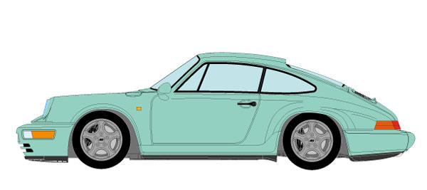 1/43 ポルシェ 911(964) カレラ RS 1992 ミントグリーン[メイクアップ]【送料無料】《09月予約※暫定》