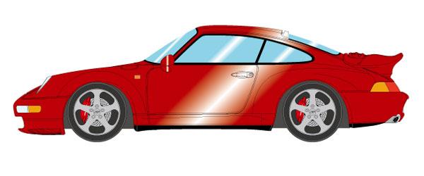 1/43 ポルシェ 911(993) ターボ 1995 ワインメタリック[メイクアップ]【送料無料】《09月予約※暫定》