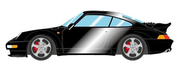 1/43 ポルシェ 911(993) ターボ 1995 ブラックメタリック[メイクアップ]【送料無料】《09月予約※暫定》