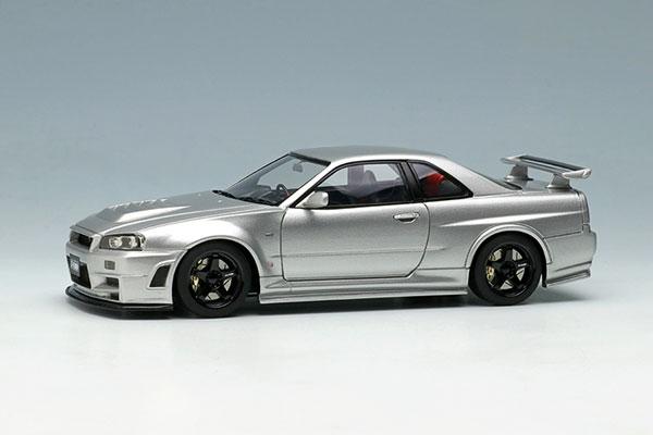 1/43 ニスモ R34 GT-R Z-tune シルバー[メイクアップ]【送料無料】《発売済・在庫品》