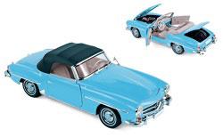 1/18 メルセデス・ベンツ 190 SL 1955 ブルー[ノレブ]《11月仮予約》